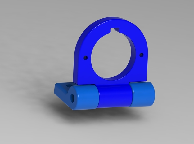 FPV Adjustable Camera Mount in Blue Processed Versatile Plastic