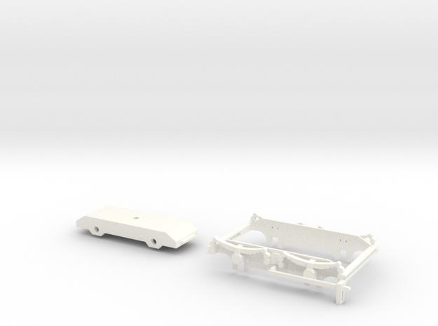 902-006 ZE H1-2 Draaistellen schaal 1:45 in White Strong & Flexible Polished
