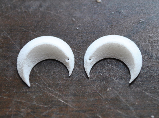 Princess' Earrings - part 2 in White Processed Versatile Plastic