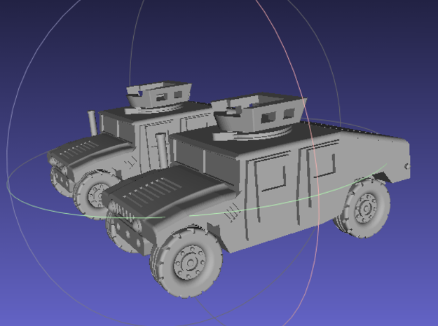 1/144 Humvee UAH (Dual Pack) in White Strong & Flexible Polished