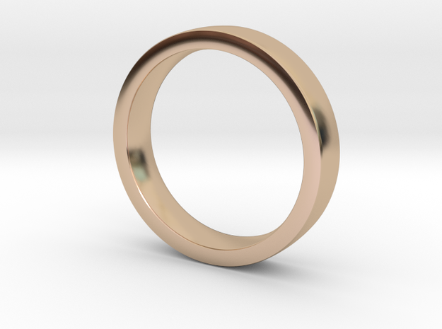 Wedding Band or everyday ring; 4mm size 7 in 14k Rose Gold