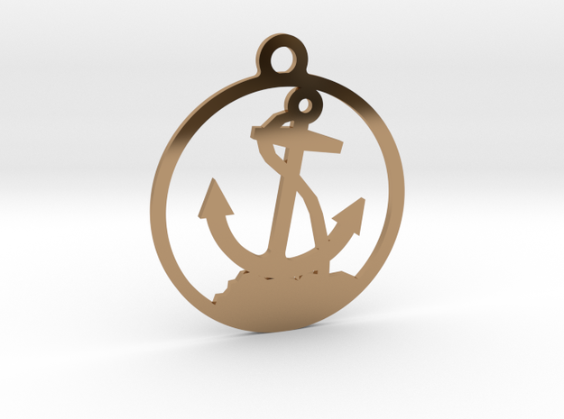 Anchor Pendent in Polished Brass