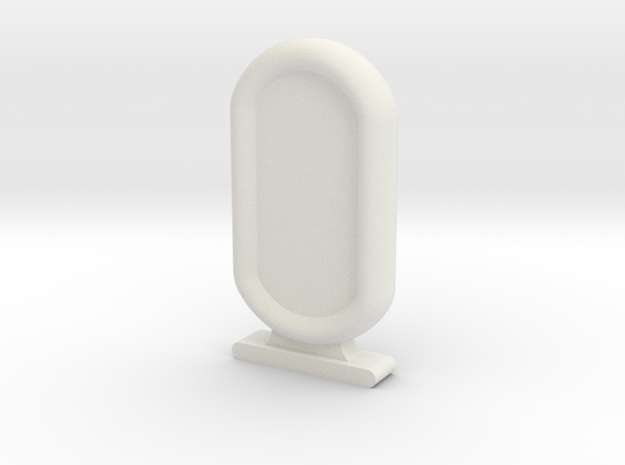 Amun Re Token in White Natural Versatile Plastic