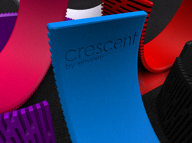 Crescent Bracelet (M) 3d printed Click to