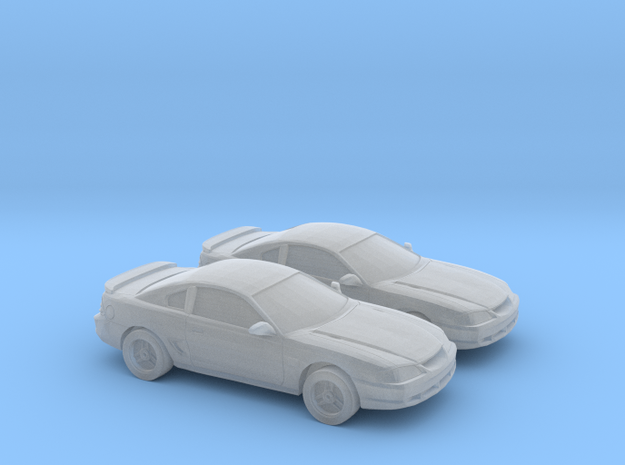 1/160 2X 1994-98 Ford Mustang in Smooth Fine Detail Plastic
