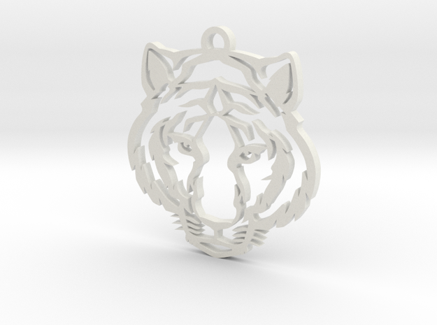Tiger pendant in White Strong & Flexible