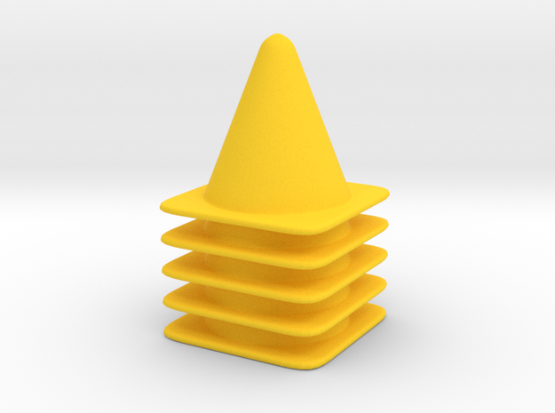 5 Cone Set in Yellow Strong & Flexible Polished