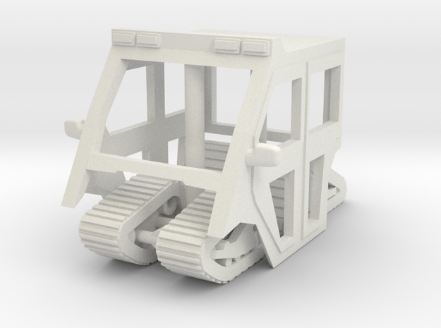 1-64 Scale Mule Cab - Tracks in White Strong & Flexible