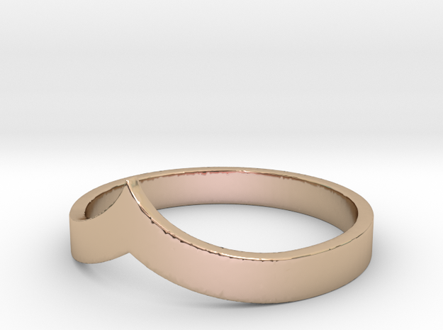Pointed Stacking Ring in 14k Rose Gold Plated Brass
