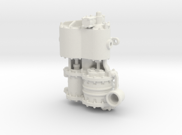 Air Compressor G Intake in White Natural Versatile Plastic