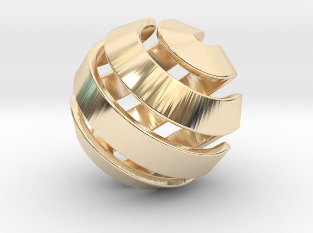 Ball-10-2 in 14K Yellow Gold