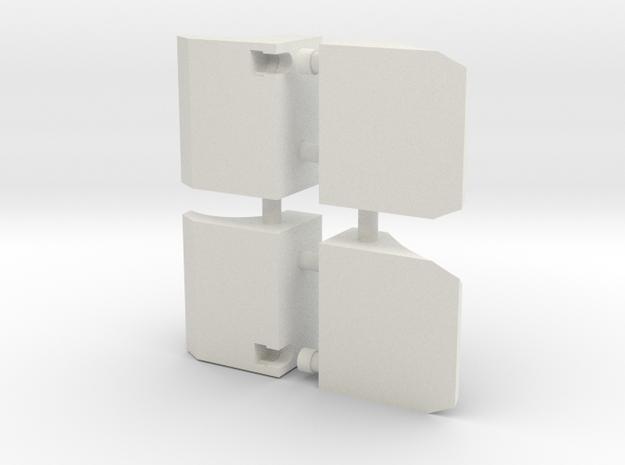 Feet KO TFC Airraid/Skydive V1.0 in White Natural Versatile Plastic