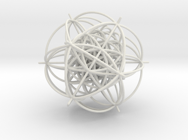 600-Cell, vertex centered, 1.5mm wires in White Strong & Flexible