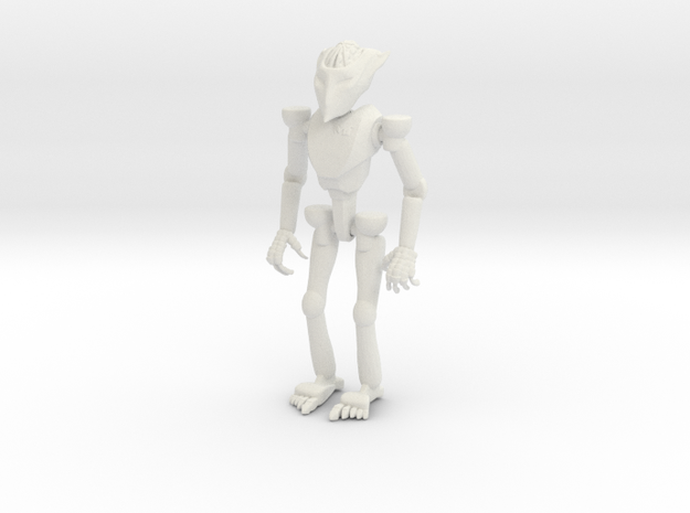 Robot Small in White Natural Versatile Plastic