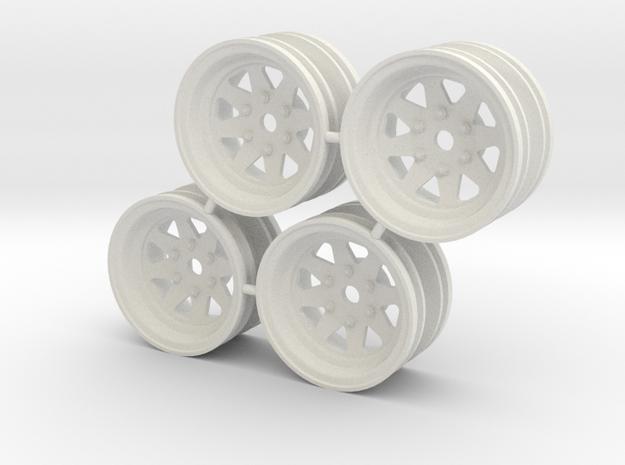 Rim Wagon Wheel Stock offset - Losi McRC/Trekker in White Strong & Flexible