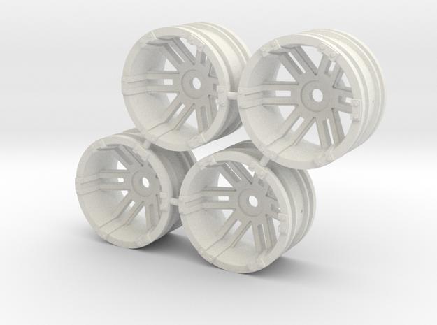 "Rim Fuel 1/8"" offset - Losi McRC/Trekker in White Strong & Flexible"