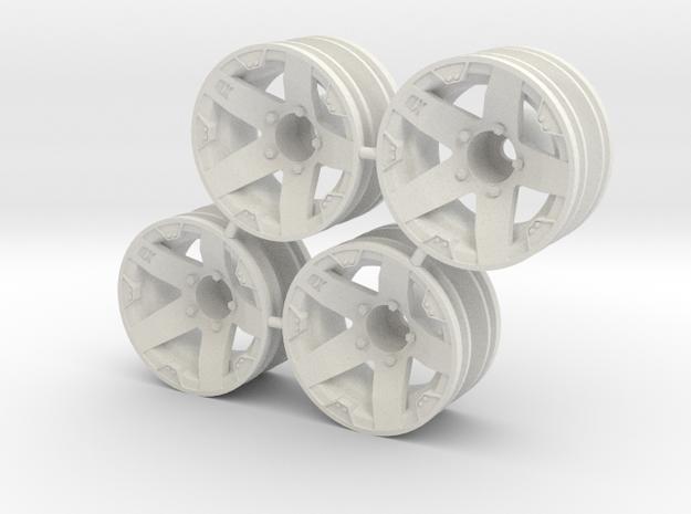 "Rim Rockstar 1/4"" offset - Losi McRC/Trekker in White Natural Versatile Plastic"