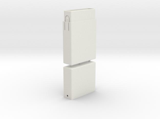 Cigarette Box in White Natural Versatile Plastic