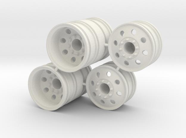 Rim Eagle 4x4 Dually Set - Losi McRC/Trekker in White Natural Versatile Plastic