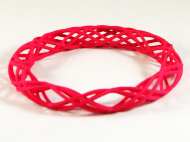 Twist Bangle  C04L in Pink Processed Versatile Plastic