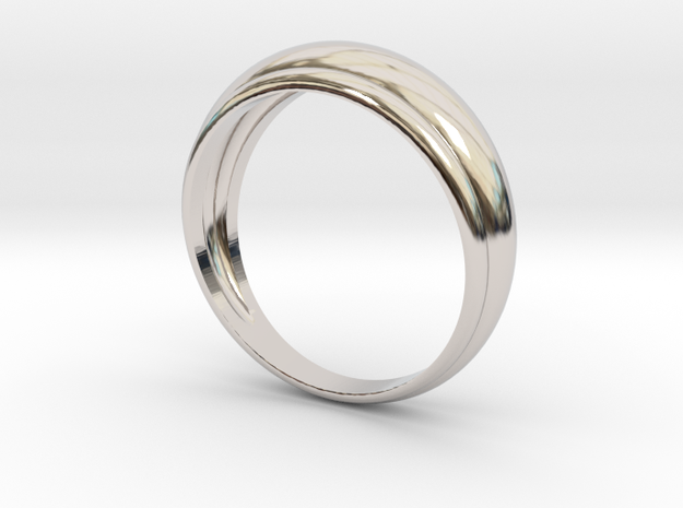 Bague Jonc in Rhodium Plated