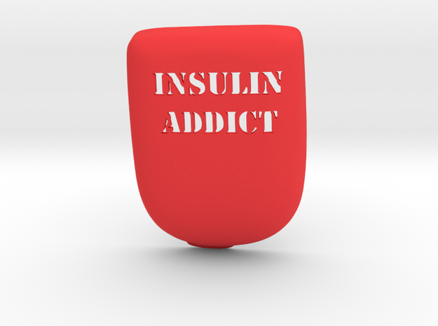 Insulin Addict Omnipod Case in Red Processed Versatile Plastic