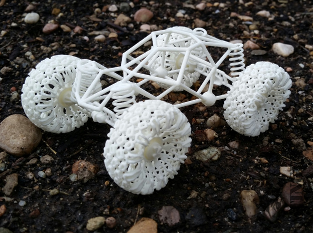 Rock Crawler in White Natural Versatile Plastic