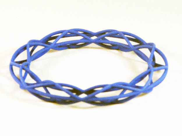 Twist Bangle A08L in Blue Strong & Flexible Polished
