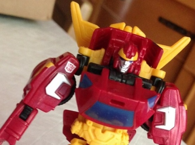 Rodimus Ax Adapter in Yellow Processed Versatile Plastic