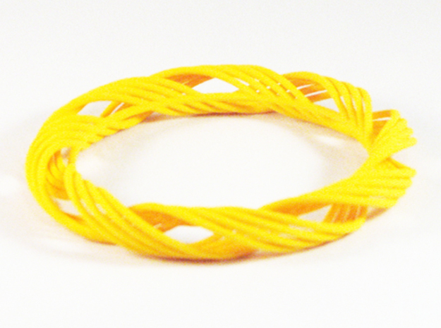 Twist Bangle  C05M in Yellow Processed Versatile Plastic