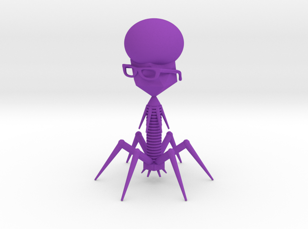 Retro Virus in Purple Processed Versatile Plastic