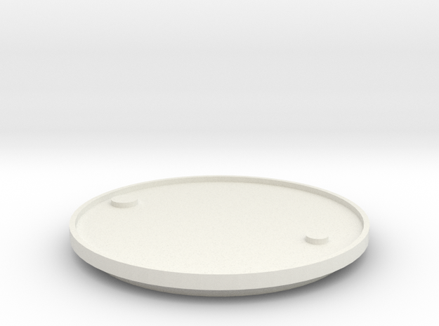 1/14 Scale Lid For 205 Ltr Drum (54 Gal) in White Natural Versatile Plastic