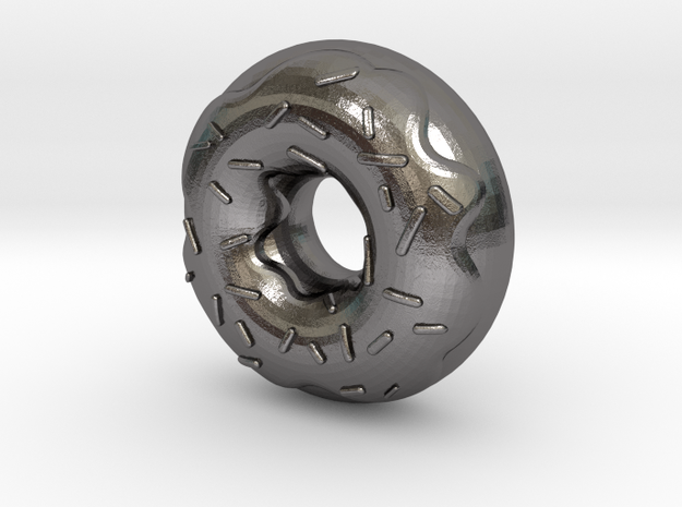 Original Design: Donut Steel! in Polished Nickel Steel