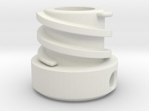 Helix-inside-spoed-8-two Groves in White Natural Versatile Plastic
