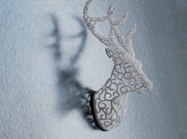 Hedera Stag in White Natural Versatile Plastic