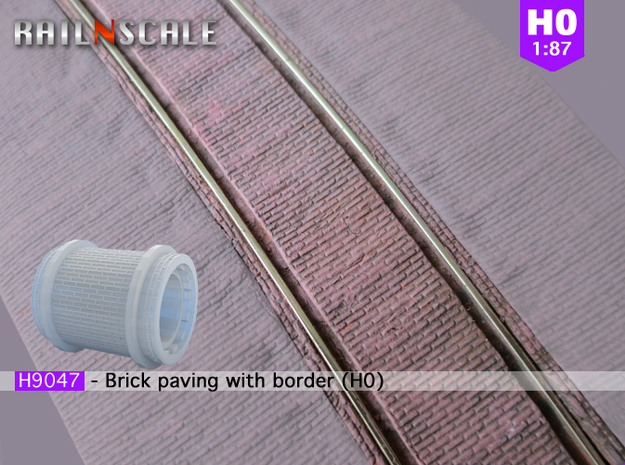 Brick paving with border (H0)
