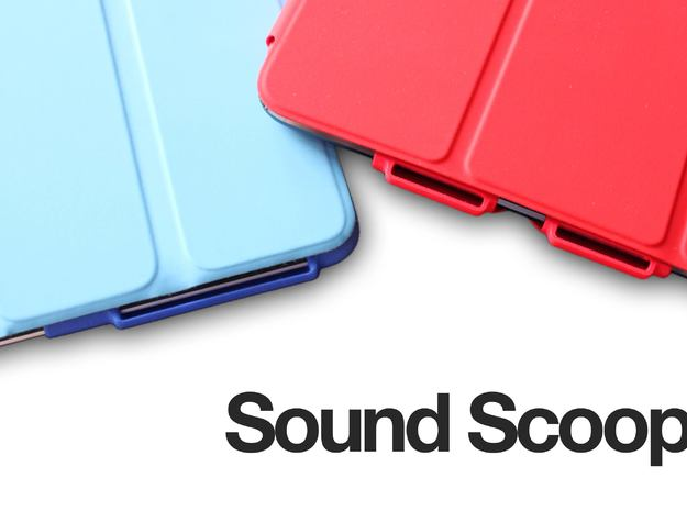 SoundScoop mini 3d printed