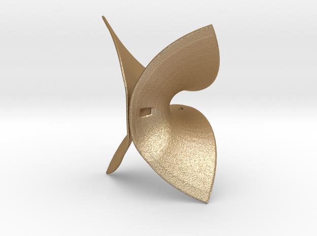 Enneper Surface in Matte Gold Steel