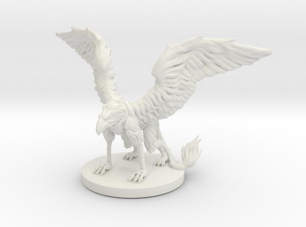 Griffon Miniature in White Natural Versatile Plastic