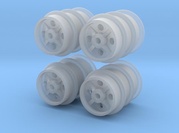 12 Feldbahn-Räder 300mm, 1:43,5/1:45/1:48 in Smoothest Fine Detail Plastic