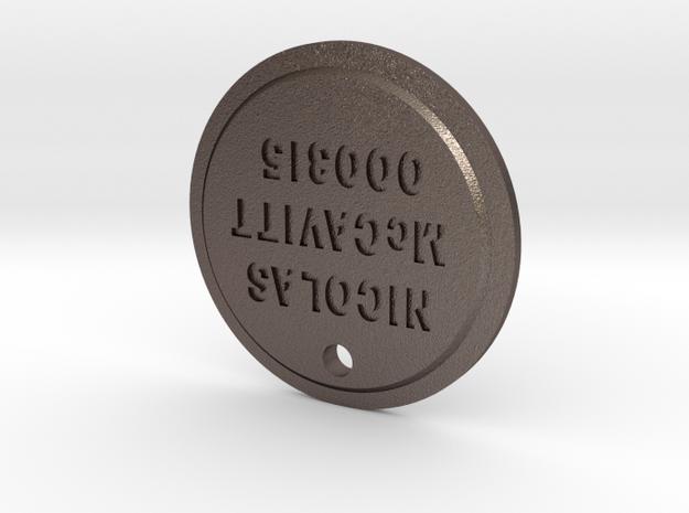 TLOU Pendant - Nicolas McCavitt 000315 in Polished Bronzed Silver Steel