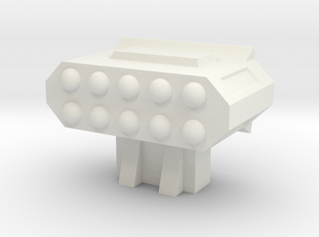 Missile Pod - Rectangular Horizontal in White Natural Versatile Plastic
