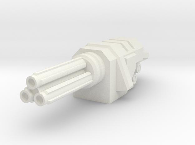 Rotary Autocannon in White Natural Versatile Plastic
