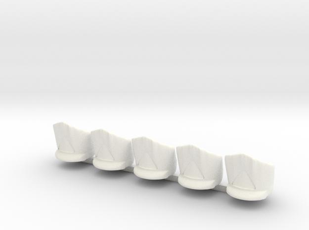 5 x Austrian Grenadier in White Processed Versatile Plastic