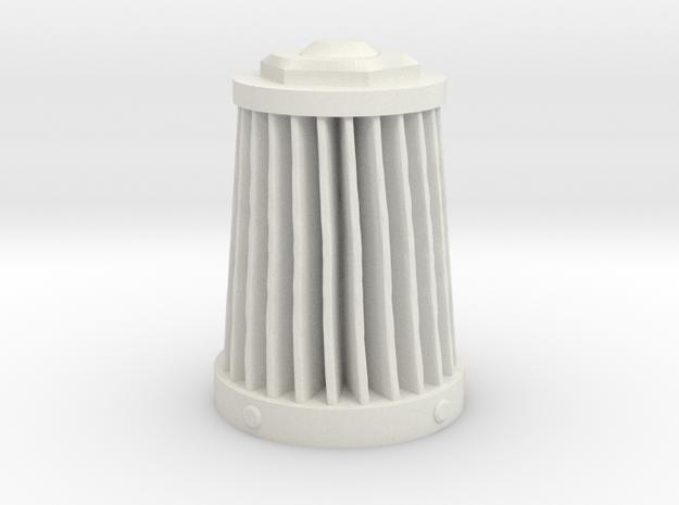 Immortan Joe Rebreather / Air Filter Component in White Natural Versatile Plastic