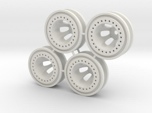 "Bead-lock 1/2"" offset 7mm hex - Losi McRC/Trekker in White Natural Versatile Plastic"