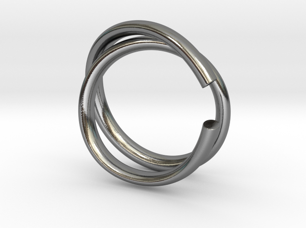 Coil Ring B in Premium Silver