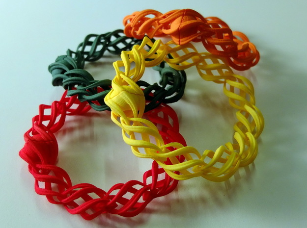 """""""Thistle"""" 11 Seed Chain to close or conect ... in Red Processed Versatile Plastic"""