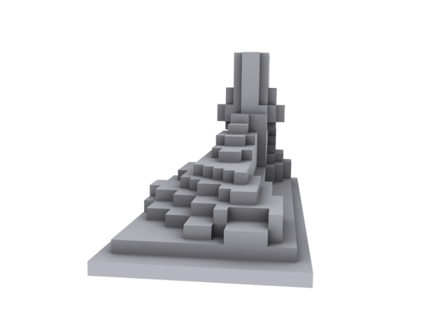 Minecraft style foot 3d printed