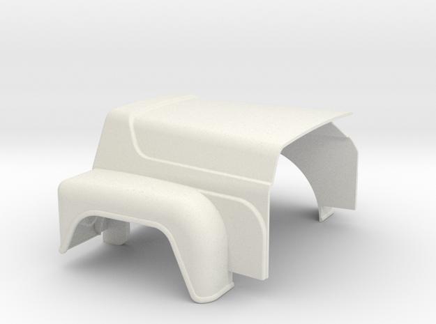 Rubber Duck-V8-hood in White Natural Versatile Plastic